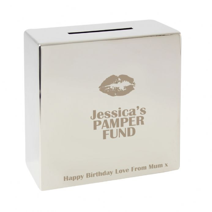 Personalised Lips Square Money Box -  Personalised Money Box | Personalised Gifts | The Present Season